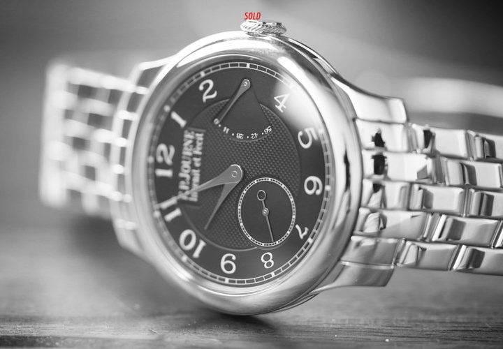 Chronometre Souverain Black Label On Platinum Bracelet