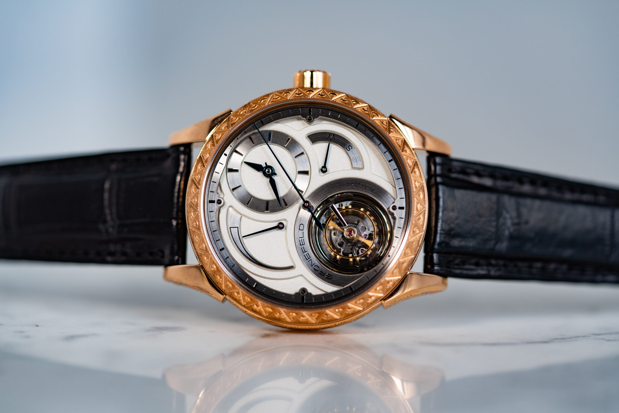 Parallax Tourbillon Engraved Unique Piece
